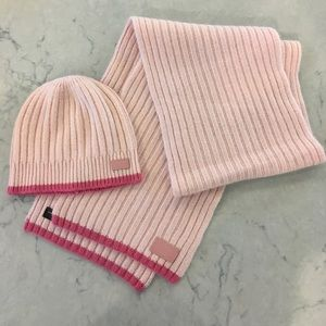 Coach Scarf and Hat Set